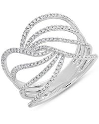 Anne Sisteron - 14kt White Gold Diamond Willow Ring - Lyst