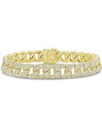 Anne Sisteron - 14kt Yellow Gold Diamond Luxe Cameron Chain Link Bracelet - Lyst