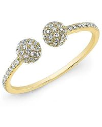 Anne Sisteron - 14kt Yellow Gold Diamond Party Ring - Lyst