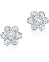 Anne Sisteron - 14kt White Gold Diamond Abigail Flower Earrings - Lyst