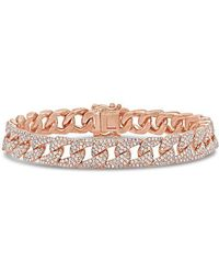 Anne Sisteron - 14kt Rose Gold Diamond Luxe Cameron Chain Link Bracelet - Lyst