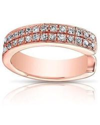 Anne Sisteron - 14kt Rose Gold Diamond Chloe Ear Cuff - Lyst