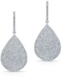 Anne Sisteron - 14kt White Gold Diamond Large Pear Shaped Earrings - Lyst