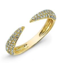 Anne Sisteron - 14kt Yellow Gold Diamond Horn Ring - Lyst