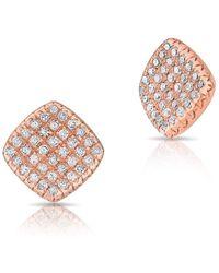 Anne Sisteron | 14kt Rose Gold Diamond Whirl Stud Earrings | Lyst