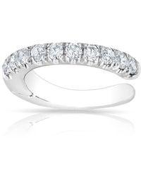 Anne Sisteron | 14kt White Gold Diamond Lola Hinged Ear Cuff | Lyst
