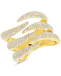 Anne Sisteron - 14kt Yellow Gold Diamond Flame Ring - Lyst