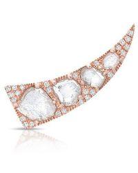 Anne Sisteron - 14kt Rose Gold Diamond Slice Horn Ear Climber - Lyst