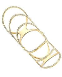 Anne Sisteron - 14kt Yellow Gold Diamond Rounded Wing Hinge Ring - Lyst