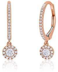 Anne Sisteron - 14kt Rose Gold Diamond Ava Earrings - Lyst