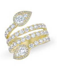 Anne Sisteron - 14kt Yellow Gold Diamond Luxe Viper Ring - Lyst