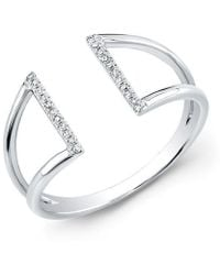Anne Sisteron | 14kt White Gold Diamond Space Ring | Lyst