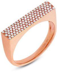 Anne Sisteron - 14kt Rose Gold Diamond Brick Ring - Lyst
