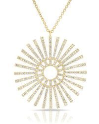 Anne Sisteron - 14kt Yellow Gold Diamond Sun Rays Necklace - Lyst