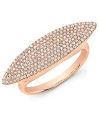 Anne Sisteron - 14kt Rose Gold Diamond Capri Ring - Lyst