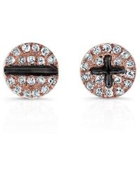 Anne Sisteron - 14kt Rose Gold Diamond Hardware Stud Earrings - Lyst