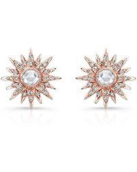 Anne Sisteron - 14kt Rose Gold Diamond Vintage Style Starburst Stud Earrings - Lyst