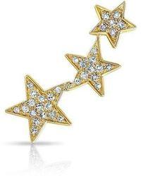 Anne Sisteron - 14kt Yellow Gold Diamond Etoile Ear Climber - Lyst