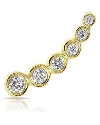 Anne Sisteron - 14kt Yellow Gold Diamond Mini Shooting Star Ear Climber - Lyst