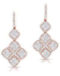 Anne Sisteron - 18kt Rose And White Gold Diamond Marie Antoinette Earrings - Lyst