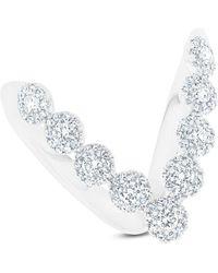 Anne Sisteron - 14kt White Gold Diamond Violet Ring - Lyst