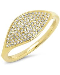 Anne Sisteron - 14kt Yellow Gold Diamond Alissa Ring - Lyst