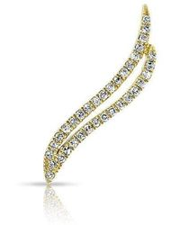 Anne Sisteron - 14kt Yellow Gold Diamond Flame Ear Climber - Lyst