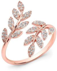 Anne Sisteron - 14kt Rose Gold Diamond Branch Ring - Lyst
