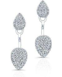 Anne Sisteron - 14kt White Gold Pear Shaped Floating Earrings - Lyst