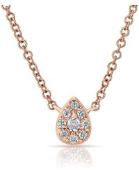 Anne Sisteron - 14kt Rose Diamond Mini Pear Necklace - Lyst