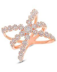 Anne Sisteron - 14kt Rose Gold Diamond Harper Ring - Lyst