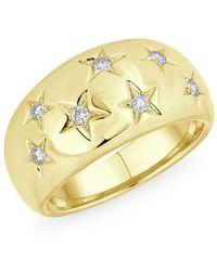 Anne Sisteron - 14kt Yellow Gold Diamond Starlight Ring - Lyst