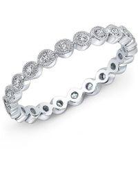 Anne Sisteron - 14kt White Gold Bezel Set Diamond Ring - Lyst