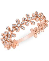 Anne Sisteron - 14kt Rose Gold Diamond Wildflower Ring - Lyst
