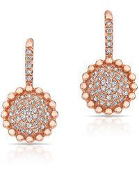 Anne Sisteron - 14kt Rose Gold Diamond Scalloped Wireback Earrings - Lyst