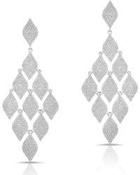 Anne Sisteron - 14kt White Gold Diamond Luxe Chime Earrings - Lyst