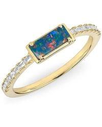 Anne Sisteron - 14kt Yellow Gold Diamond Opal Maddie Diamond Ring - Lyst