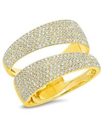 Anne Sisteron - 14kt Yellow Gold Diamond Open Pave Ring - Lyst