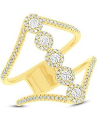 Anne Sisteron - 14kt Yellow Gold Diamond Catherine Ring - Lyst
