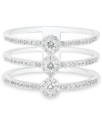 Anne Sisteron - 14kt White Gold Diamond Triple Lauren Ring - Lyst