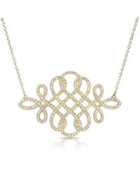 Anne Sisteron - 14kt Yellow Gold Diamond Woven Lace Necklace - Lyst