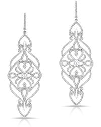 Anne Sisteron - 14kt White Gold Diamond Manoir Diamond Earrings - Lyst