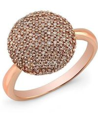 Anne Sisteron - 14kt Rose Gold Diamond Bouton Ring - Lyst