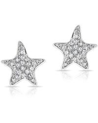 Anne Sisteron - 14kt White Gold Diamond Starfish Stud Earrings - Lyst