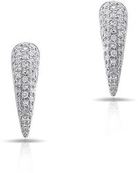 Anne Sisteron - 14kt White Gold Diamond Horn Stud Earrings - Lyst