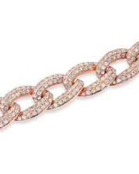 Anne Sisteron - 14kt Rose Gold Diamond Chain Link Magnificence Bracelet - Lyst