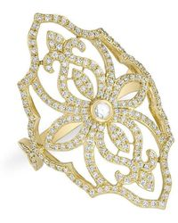 Anne Sisteron - 14kt Yellow Gold Diamond Manoir Ring - Lyst