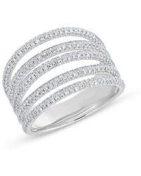 Anne Sisteron - 14kt White Gold Diamond Annabella Ring - Lyst