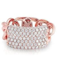 Anne Sisteron - 14kt Rose Gold Diamond Luxe Id Link Ring - Lyst