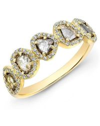 Anne Sisteron - 14kt Yellow Gold Diamond Slice Princess Ring - Lyst